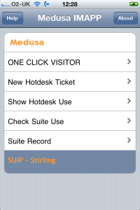 iPhone IMApp version 0.2 showing log in page